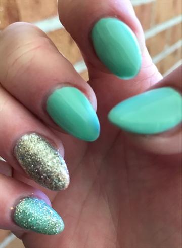 Mint Green & Bling Almond
