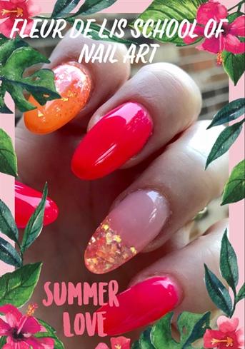 Hot Summer Nails Hard Gel Light Elegance
