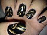 Glittery Gold Stripes