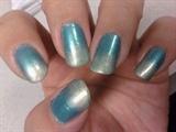 Ocean Blue-Green Nails