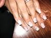 Acrylic nails brown heart fimo heart