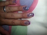 glitter french leopard