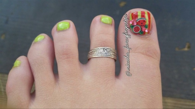 Fimo Rhinestone Toe Nail Art Nail Art Gallery