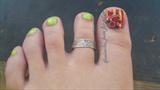 Fimo / Rhinestone Toe Nail Art