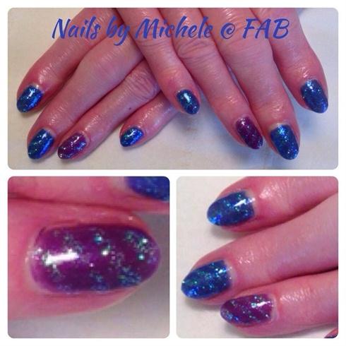 Blue Glittery