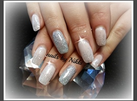 nail art: Silver Sparkle