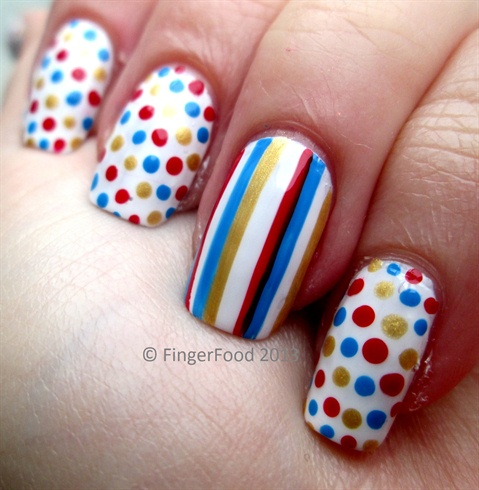 Simple polka dots and stripes nail art gallery simple polka dots and stripes prinsesfo Choice Image