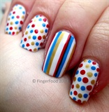 Simple polka dots and stripes