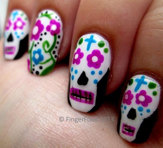 Dia de los muertos nail art gallery dia de los muertos prinsesfo Images