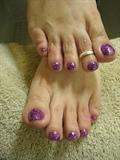 Purple Rock Star toes w/Shellac