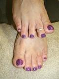 Rock Star pink and purple w/Shellac