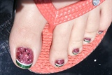 Rockstar Watermelon toes