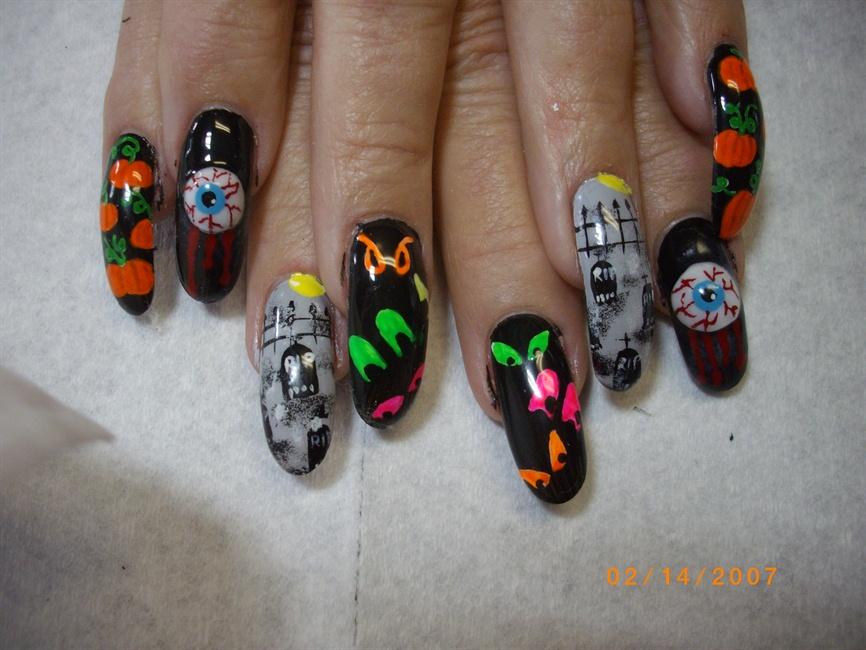 halloween nail art - Nail Art Gallery