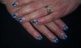 blauwe nail art