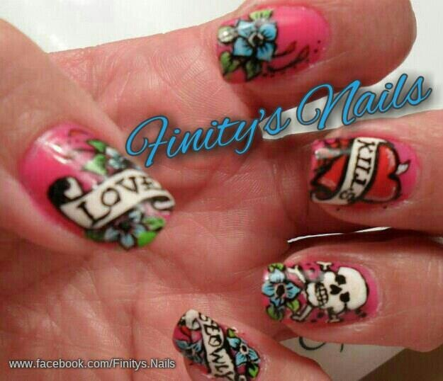 Ed Hardy Nails - Nail Art Gallery