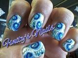 My Swirlies over holo & glitter polish.