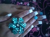 French With turquoise Glitter