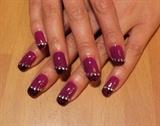 Black lace on purple