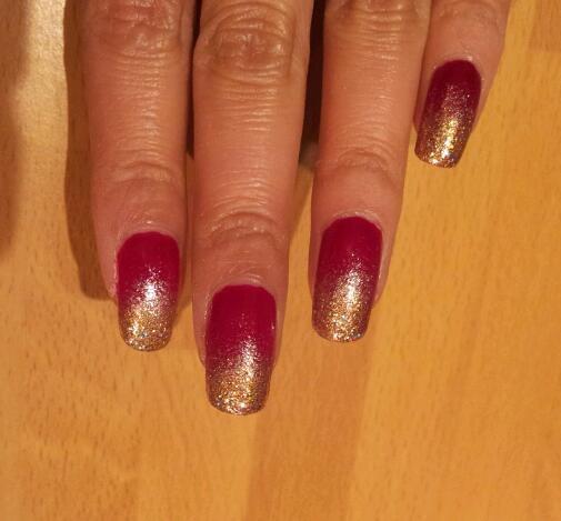 Gold gradient on raspberry
