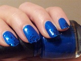 Electric Blue glitter tip