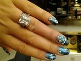 Gradient Blue Fimo Flowers