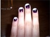 Purple, white and silver