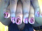 Hot Pink/Black Shatter