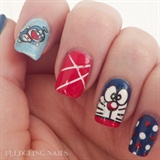 Cute Doraemon Nails