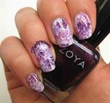 Falling Purple Flowers