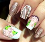 Puce floral