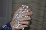 Elegant manicure on gel nails