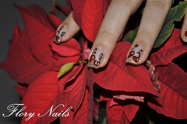 Valentine's Day on gel nails
