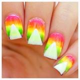 Neon Ombré Nail Art