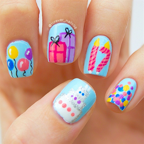 Birthday Nail Art Nail Art Gallery