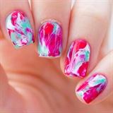 Christmas Marble Nails