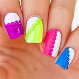 Neon Studded Nail Art