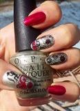 stamping nail art moyou zodiac verseau