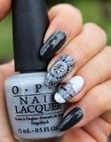 stamping nail art matins gris, moyou