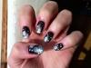 Christmas black nail