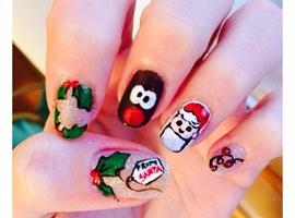 nail art: Christmas glitter