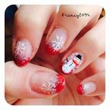 Christmas french & glitter