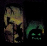 Witch's Broom & Pumpkin Jack
