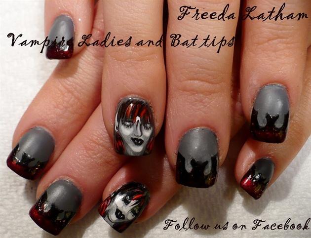 Vampire Ladies Halloween Nails Nail Art Gallery