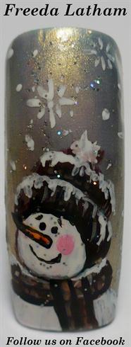 Snowman with Toboggan