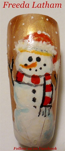 Santa Hat Snowman