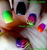 Neon Zebra Series