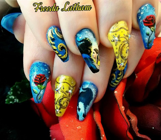 Beauty And The Beast Inspired Nail Art Gallery