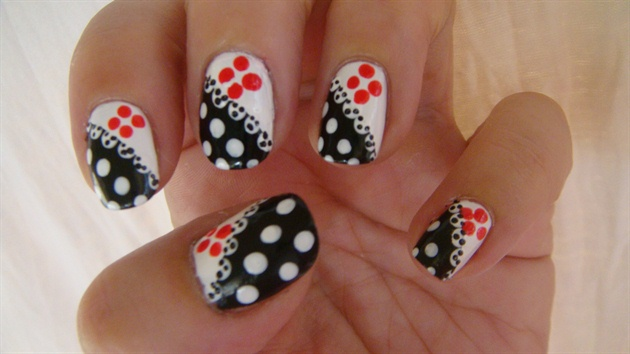 Polka dot nail art design nail art gallery polka dot nail art design prinsesfo Images