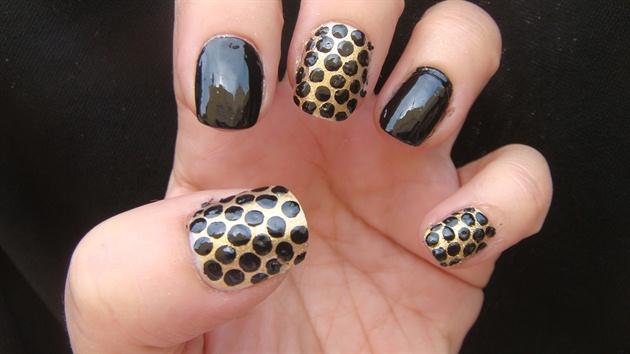 Black Dots Nail Art Design Nail Art Gallery