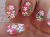 White flowers nail art design